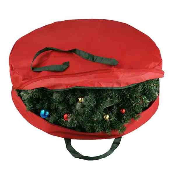 holiday wreath storage