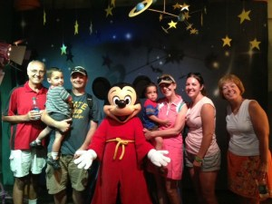We met Mickey in his clubhouse.