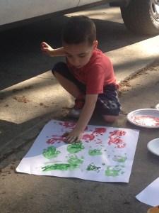 Caden_Finger Painting_04-06-14