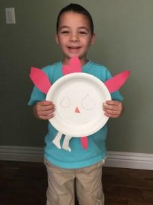 Logan_Paper Plate Turkey_11-28-14