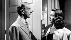 Clifton Webb and Gene Tierney in the 1944 film noir 'Laura' directed by Otto Preminger