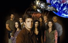 Nathan Fillion leads the crew in Joss Whedon's short-lived series 'Firefly.'