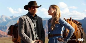 James Marsden and Evan Rachel Wood in HBO's 'Westworld'