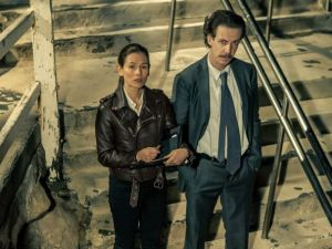 Yael Stone and Noah Taylor in the Australian crime drama 'Deep Water'
