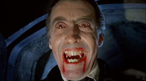 Christopher Lee is Dracula in the Hammer horror film from Terence Fisher with Peter Cushing