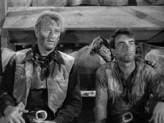 John Wayne and Montgomery Clift in the 1948 western classic by Howard Hawks