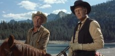 Randolph Scott and Joel McCrea in the classic western by Sam Peckinpah