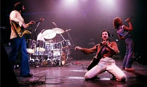 John Entwistle, Pete Townsend, Keith Moon and Roger Daltry perform at Shepperton