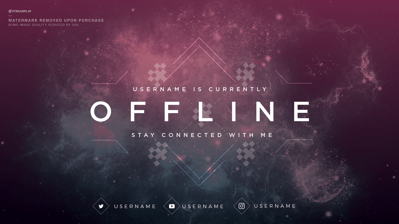 Twitch Offline Banner Templates Offline Screens For Your Twitch