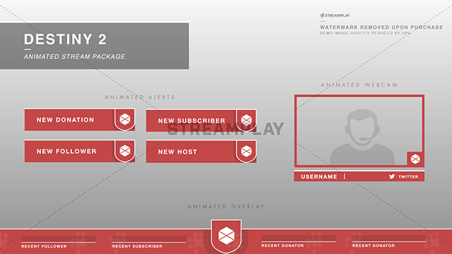 destiny 2 animated twitch overlay package