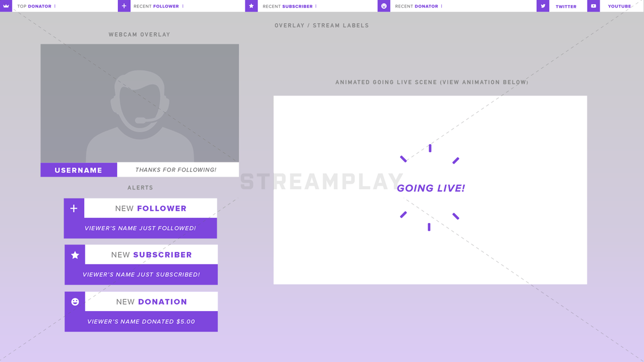purple stream overlay package