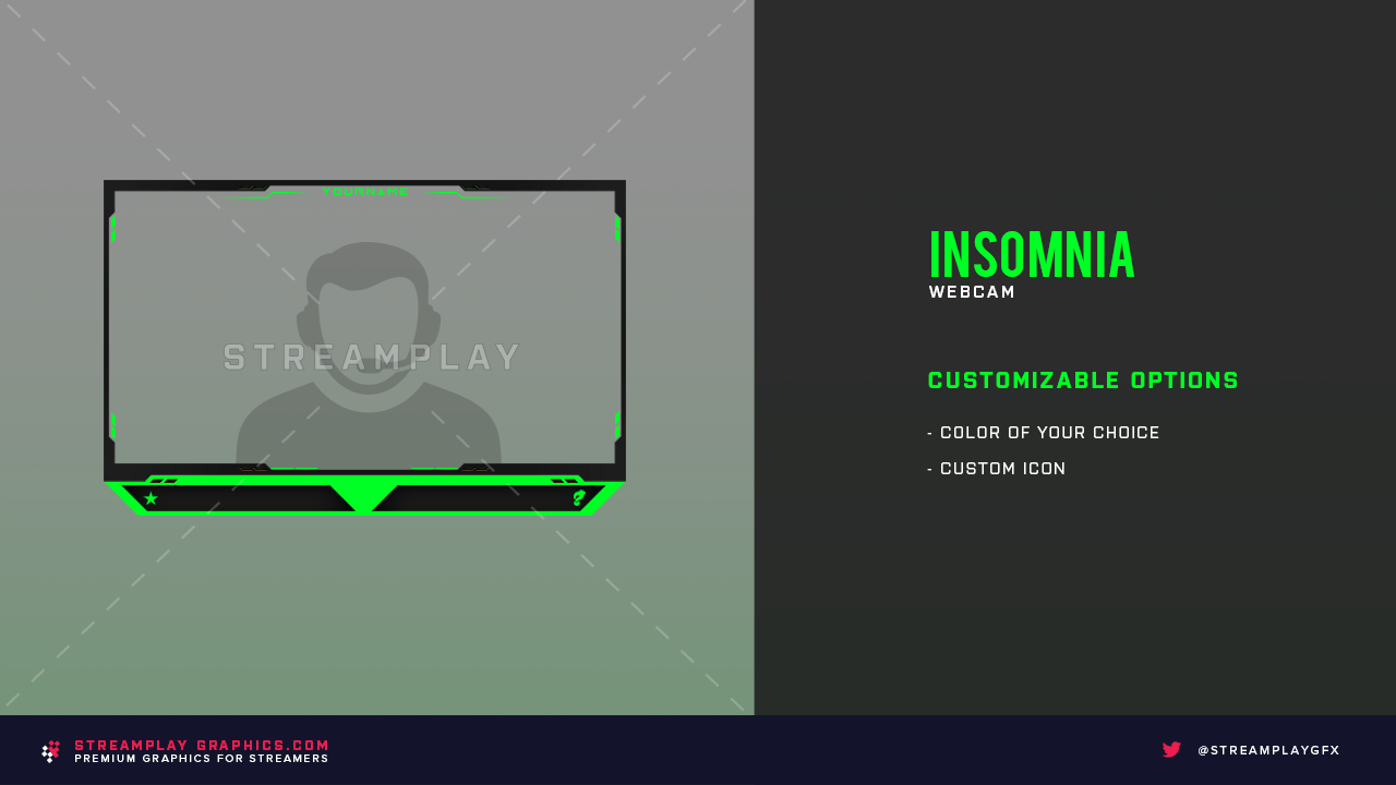 green and black webcam overlay