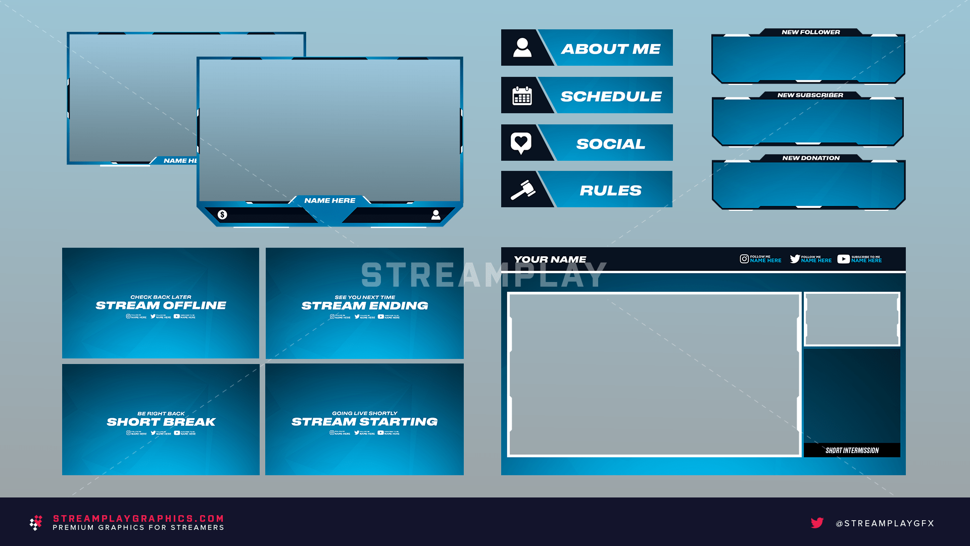 preview of the blue stream overlay graphics