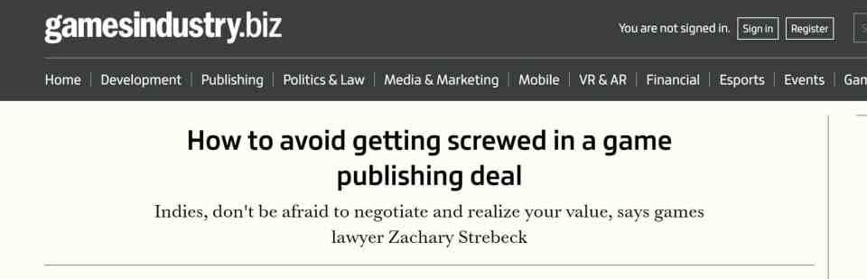 How not to get screwed in a game publishing deal