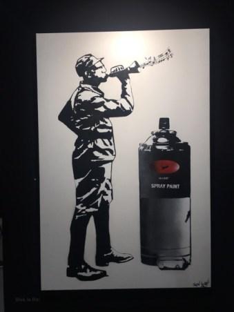 Artiste Blek le rat Galerie parisienne Ange Basso - Stand B500