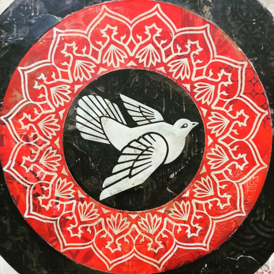 Shepard Fairey, Obey Doves (Black) 2012