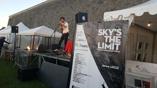 Projection du film Sky's The Limit à l'Atalante ©Jérôme Thomas