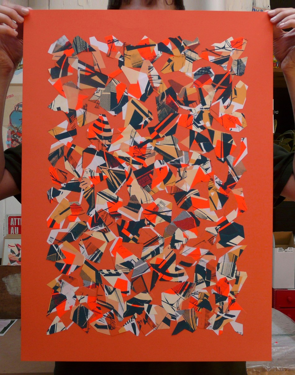 Collage, Serigraphie 50 x 70 cm