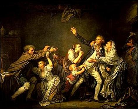 La Malédiction Paternelle : Le fils ingrat du peintre et dessinateur français Jean-Baptiste Greuze (1725-1805)