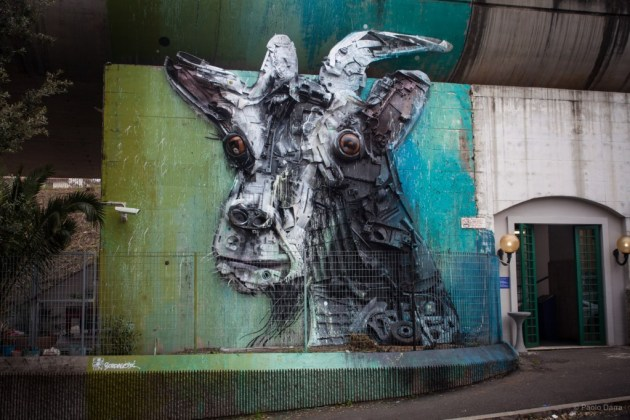 Bordalo II, Saint Peter Station which, Rome, 2016 ©Paolo Darra