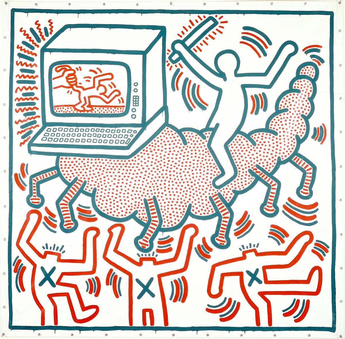 Keith Haring, sans titre, 1983 ©Keith Haring Foundation