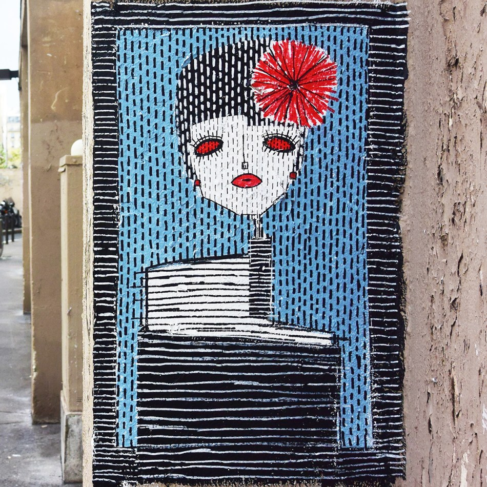Paris 2 _Painted directly on wall