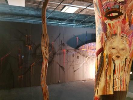 Stéphane Carricondo et sa salle nommée Déambulations intérieures ©Stree
