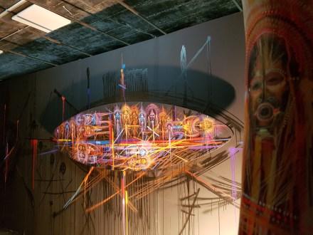 Stéphane Carricondo et sa salle nommée Déambulations intérieures ©Streep