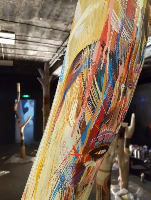 Stéphane Carricondo et sa salle nommée Déambulations intérieures, Work in progress ©Stree