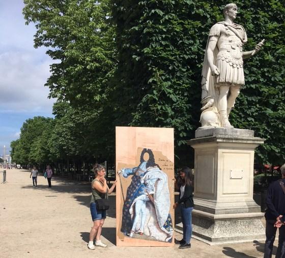 Louis XIV par Nadège Dauvergne, Jardin des Tuileries, 2018, ©Musée du Louvre