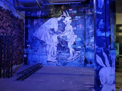 Fred Calmets,fresque se trouvant dans le parking, Strokar Inside, Bruxelles ©Streep