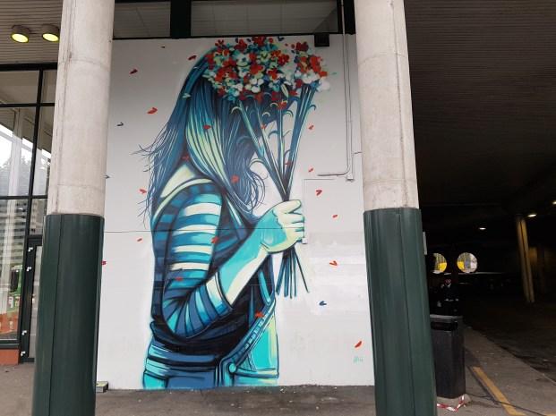 Alice Pasquini, Nuart Festival, Stavanger, Norvège, 2018 ©Streep