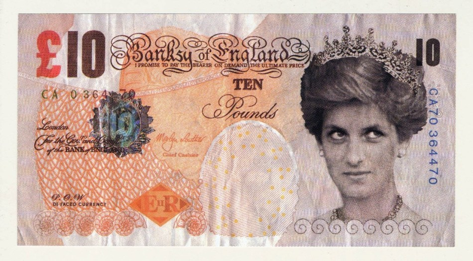 Banksy, Di-Faced Tenner crédit Banksy courtesy of Pest Control Office