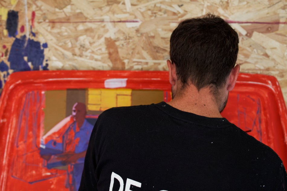 Matth Velvet dans son atelier © Luka Merlet