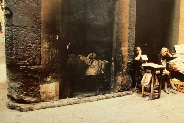 La mort de la vierge, Ernest Pignon-Ernest, Naples, 1992