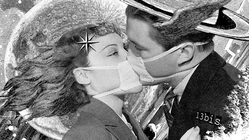13 bis, Le baiser masqué, Paris, 2020