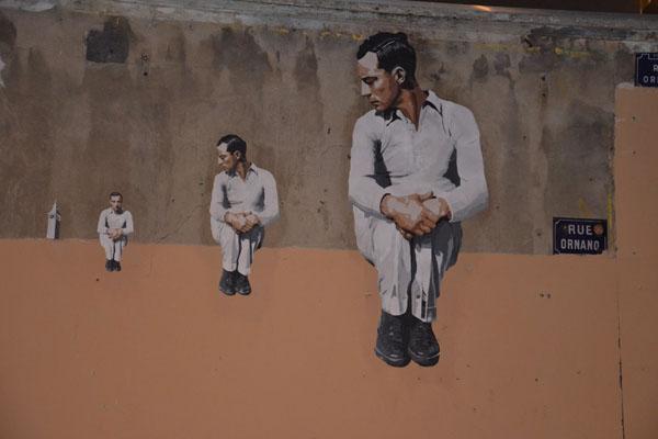 Buster Keaton par Big Ben street art