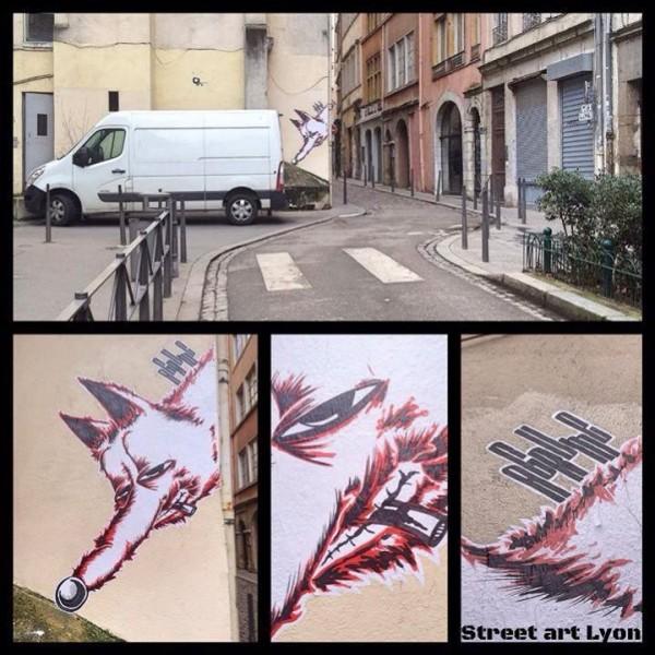 Agrume street art Lyon