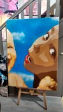 Big Ben street art enfants
