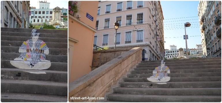 Don Mateo street art escalier