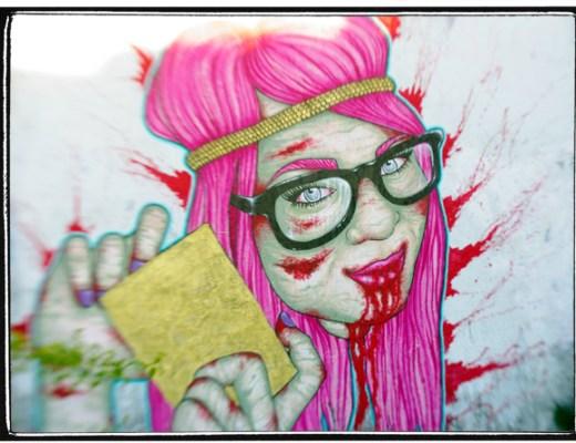 Zombie Girl, Miami Street Art