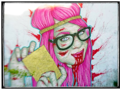 Zombie Girl, Miami Street Art