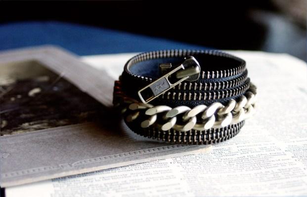 Maslinda Zipper Cuff Bracelet