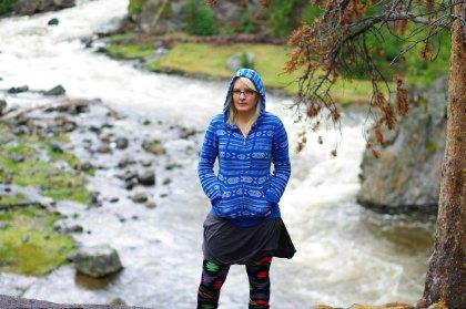 Katya at Yellowstone