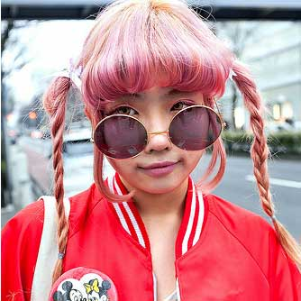 Pink Street Fashion Hair