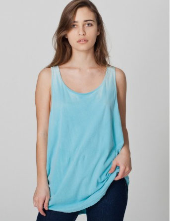 ThermoChromatic Tank in turquoise