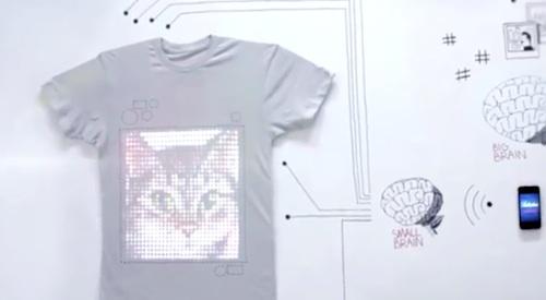 tshirtOS interactive t-shirt