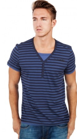 Sublevel Striped T-Shirt True Navy/Dark Navy