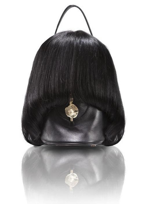human hair bags by Tae Seok Kang