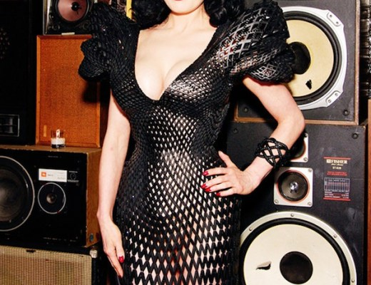 Dita Von Teese in 3D printed dress